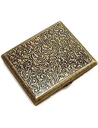 Cigarrillo Caja de Cigarrillos de Metal para 20 Cigarrillos, Caja de Cigarrillos Antiguos con Aspecto Elegante Grabado y cualidades Especiales