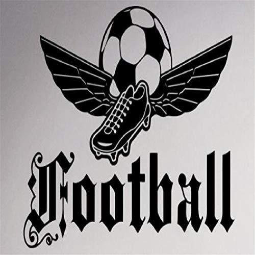 wandaufkleber 3d Wandaufkleber Quote Football Awesome Sportschuhe mit Magic Wings Wandaufkleber für Wohnzimmer Jungen Schlafzimmer