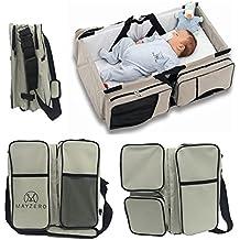 mayzero 3en 1viaje cuna portátil bolsas de pañales y cuna manta cambiador, bolsa, pañal bebé capazo convertible en cama