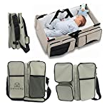 MAYZERO 3 in 1 Baby Changing Bags Travel Bassinet Diaper Bags Portable Crib Changing Station Tote Nappies Bag Changing Infant Carrycot Bed