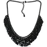 Brass Cluster Black Necklace for Women Fashion Costume Jewellery Indian