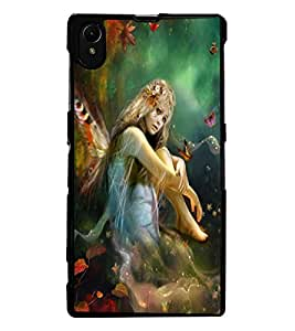 ColourCraft Butterfly Girl Design Back Case Cover for SONY XPERIA Z1