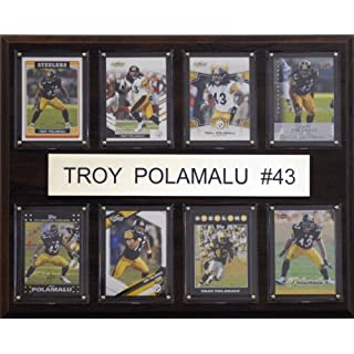 C & I Collectables NFL Troy Polamalu Pittsburgh Steelers 8 Karte Plaque