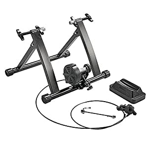 Popamazing Magnetic Turbo Trainer,Variable Resistance Bike Trainer(8 levels of Resistance) for 26'' to 28'' and 700C Wheel Sizes
