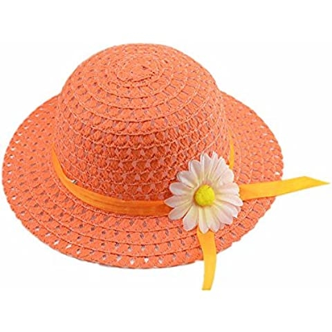 SAMGU Chicas para niños sombreros playa Bolsas Flor paja casquillo sombrero bolso totalizador bolso juego niños verano sombrero