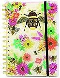 Agenda escolar 2018-2019 A5 día por página mitad año diseño diario organizador 3883, color Bee