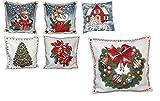 entzückende Kissenhülle 45x45 cm Weihnachten Weihnachtskranz Webgobelin GOBELIN KISSEN Winter Weihnachten KissenBezug (Adventskranz)