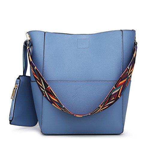 Mefly Benna Pack Fashion Borsa A Tracolla Con Grande Capacità Brown blue