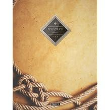 """TULPE Kariertes Notizbuch A4 """"C001 Seefahrt"""" (140+ Seiten, Vintage Softcover, Doppelrand, Seitenzahlen, Register - Dickes Notizheft, Matheheft, Skizzenbuch, Schulheft, Tagebuch, Kariertes Heft Nr 26)"""