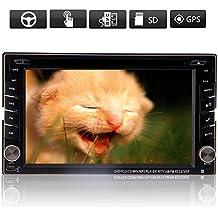Free Reverse Camera Support nuovo Windows 8sistema Auto Video Player 6.2inch Generic 2DIN autoradio DVD Video Player Audio ad alta definizione stereo navigatore Gps con 3d scheda mappa SD in Dash Headunit BT PC auto TV