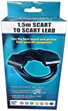 Accenter scart cable 1.50m 1.5M Plated Scart to Scart Cable 21 Pin Lead Wire