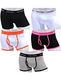 Calvin Klein 365 - Boxer en coton pour hommes taille basse - Lot de 5 - Tailles: S(4) - M(5) - L(6) - XL(7) - Nouveau