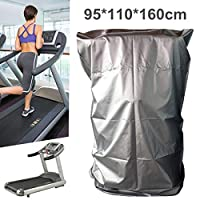 dDanke 95 * 110 * 160cm Treadmill Waterproof Dust-proof Cover Folding Protective Cover with Zipper for Home Use (Silver)