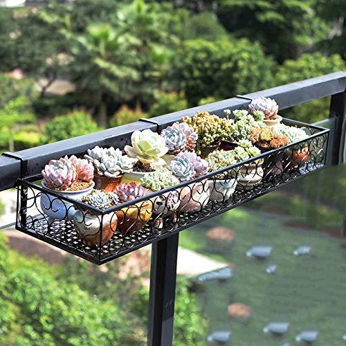 Attaccapanni per balcone Piantana per fiori Stand per piante in metallo Supporto per espositori per piante da giardino PNYGJKHJ (Size : 120×20×12cm)