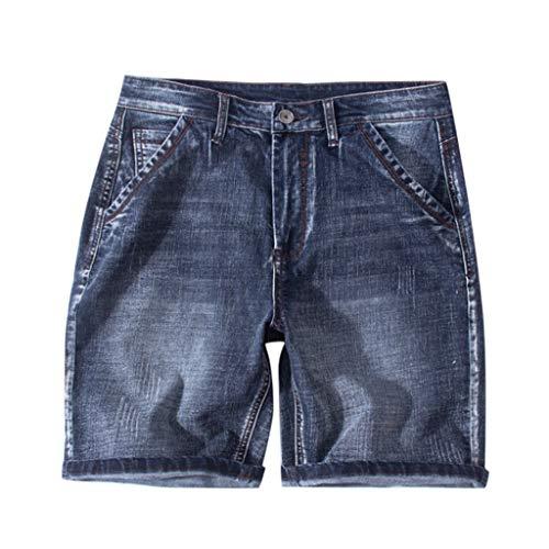 Rcool pantaloncini di jeans da uomo neri taglie forti pantaloni corti casual in denim estate bermuda slim fit stretch straight jeans pantaloni s-8xl(adatto per persone grasse)
