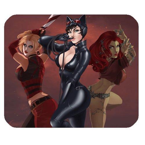 Preisvergleich Produktbild Gotham City Sirens Comics Catwoman Superheld Persönlichkeit Designs Gaming Maus Pad, Oberfläche der Polyester verhindern Verformung [natur Gummi, Präzision Stoff] £ ¨ 25x 20,1cm £ ©