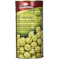 Gourmet - Aceitunas rellenas de anchoa - Verdes manzanilla extra - 600 g - [Pack de 3]