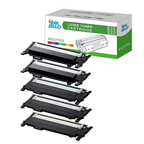 InkJello Compatibile Toner Cartuccia Sostituzione Per Samsung CLP-360 CLP-365 CLP-365W CLX-3300 CLX-3305 CLX-3305FN CLX-3305FW CLX-3305W Xpress SL-C410W SL-C460FW (Nero/Ciano/Magenta/Giallo, 5-Pack)