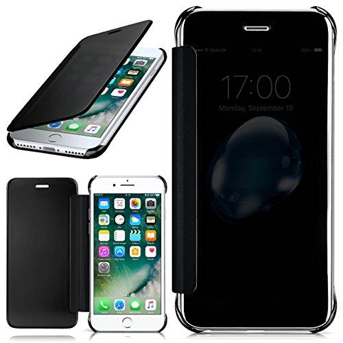 iPhone 7 Hülle Transparent TPU [OneFlow Void Cover] Dünne Schutzhülle Schwarz Handyhülle für iPhone 7 Case Ultra-Slim Handy-Tasche mit Sicht-Fenster (Handy-tasche Extra)