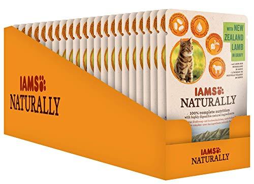 Iams Naturally Lamm, Nassfutter mit Lamm für erwachsene Katzen