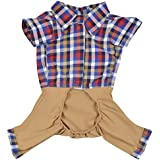 DOUGE COUTURE Jumpsuit For Dogs (DC-T-05-1_12, Brown, 12)