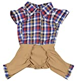 #10: DOUGE COUTURE Jumpsuit For Dogs (DC-T-05-1_14, Brown, 14)