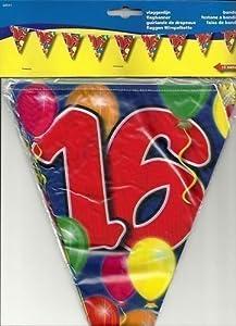 Folat 1 Guirnalda de banderines L: 10 m, decoración para Fiesta de 16 cumpleaños