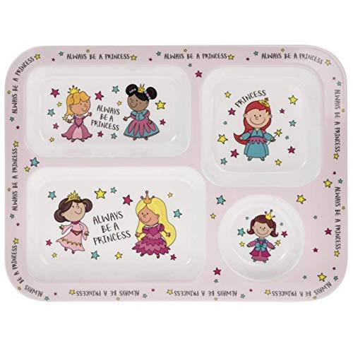 "\""Always Be A Princess Pink Melamin Kunststoff Kinder Abschnitten Abendessen Teller 30cm"