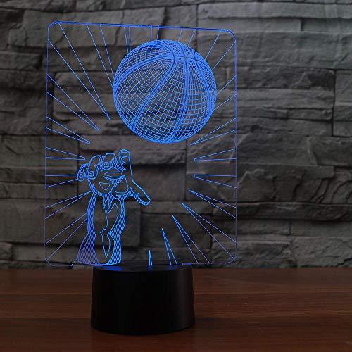 Basketball Werfen Tischlampe 3D Led 7 Farben Ändern Nachtlicht Hausgemachte Schlafzimmer Dekoration Kinder Geburtstag Geschenk Schlaf ()