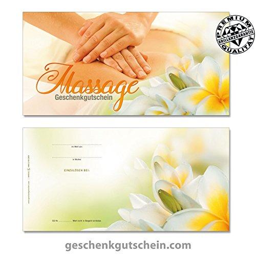 """25 Stk. Gutscheinkarten """"DIN lang"""" für Massage, Wellness und Spa MA9243, LIEFERZEIT 2 bis 4 Werktage !"""