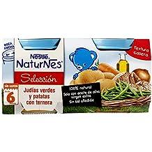 Naturnes Selección Judías Verdes Y Patatas Con Ternera A Partir De 6 Meses - Pack de 2 x 200 g - Total: 400 g
