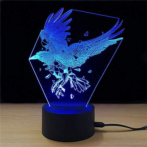 Schöne 3D Usb Led Papagei Eagle Sleeper Nacht Schlafzimmer Nachttisch Vogel Tischlampe Schlaf Licht Dekoration Lampe Logo Sleeper