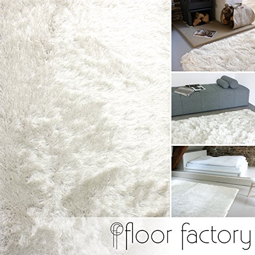 Tappeto shaggy pelo lungo prestige bianco 80x150 cm - tappeto morbido extra lungo