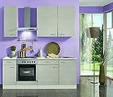 idealShopping Küchenblock mit Elektrogeräten Como in Pinie Nachbildung 210 cm breit