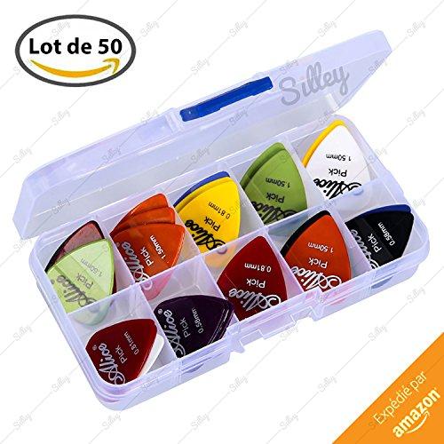 silley-scatola-da-50-plettri-per-chitarra-basso-mandolino-6-spessori-058-071-081-096-120-e-150mm-ide