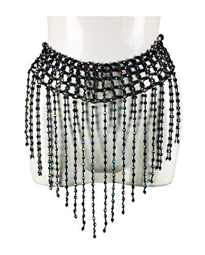 Horror-Shop Orientalische Bauchtanz Perlen-Hüftkette Multicolor
