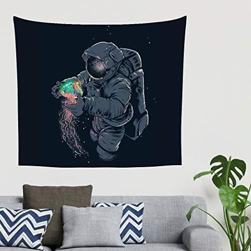 O5KFD&8 NASA-Weltraumquallen Gedruckt Wandbehang romantisch Groß Außendecke - Schwarz lustig für Papa Geschenke White 40 * 59