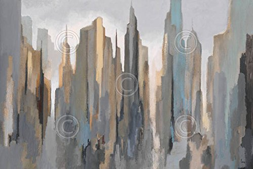 midtown-skyline-gregory-lang-abstract-contemporary-landscape-poster-choose-size-print-or-canvas