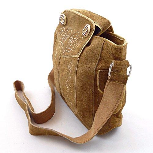 Trachtentasche Dirndltasche Lederhosen-Tasche Umhängetasche Leder Braun - Bild 5