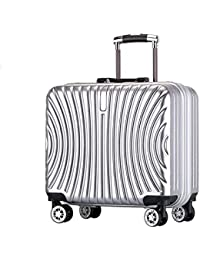 18 Inch Aircraft Universal Wheel Aluminum Frame Frosted Men And Women Suitcase Password Lock Trolley Luggage Luggage Mute