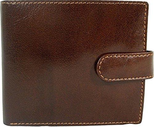 New mens Visconti 2 Volets pour homme Marron Glacé Milano Portefeuille en cuir style 457 Sac de monnaie