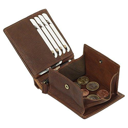 Luxus Leder Geldbörse Wiener-Schachtel Portemonnaie Geldbeutel Farbe braun