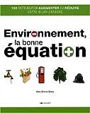 """Afficher """"Environnement, la bonne équation"""""""