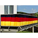 JEMIDI Balkon - Sichtschutz 300 x 90cm Balkonschutz Deutschland Sichtschutz Geländerschutz Balkon Windschutz Balkonverkleidung Sonneschutz Sichtschutzmatte