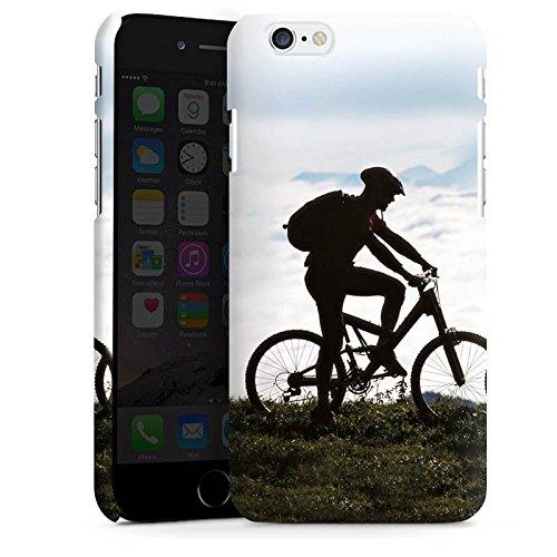 Apple iPhone X Silikon Hülle Case Schutzhülle Fahrrad Mountainbike Natur Premium Case matt