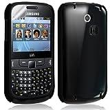 Housse étui coque rigide brillante pour Samsung Chat 335 S3350 couleur noir