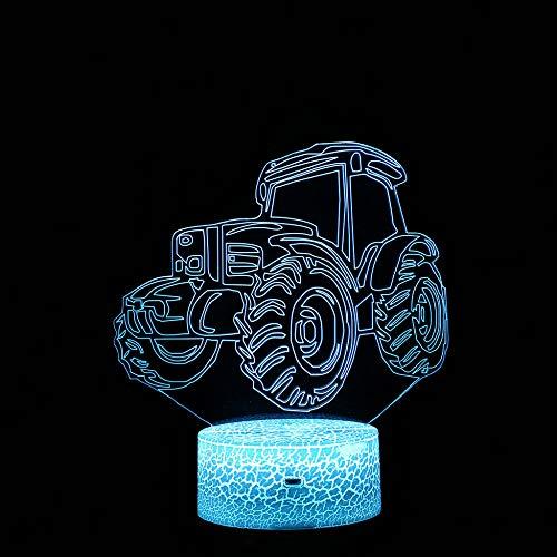 Lampada per illusione visiva 3D / Touch 3D / Lampada da tavolo Luce notturna/Led Fury/Luce notturna regalo di Natale/Decorazione regalo creativo /Tavolo trattore