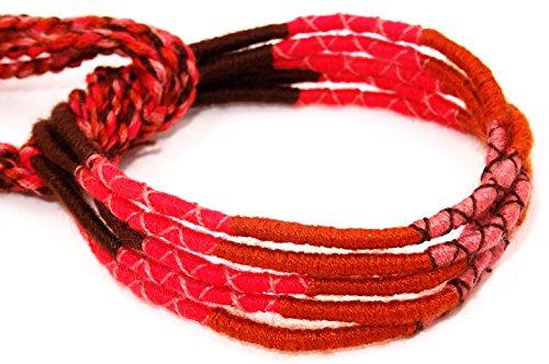 Lote de 5pulseras brasileñas de amistad (algodón, macramé), amuletos buena suerte, multicolor