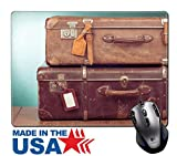 Msd Natural rubber mouse pad/tappetino con bordi cuciti 9.8x 7.9vintage Travel Valises con immagine del nome tag vuoto 23950160