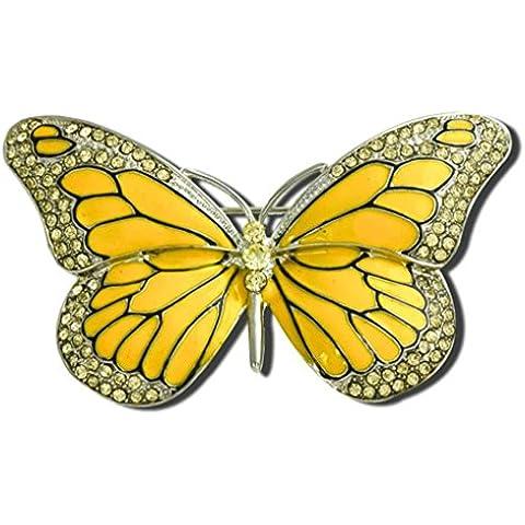AnaZoz Joyería de Moda Broche de Mujer Acero Inoxidable Broche Mariposa Broches y Pins Para Mujer Broche de